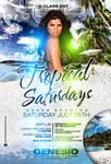 Tropical Saturdays Flyer