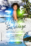Tropical Saturdays Flyer