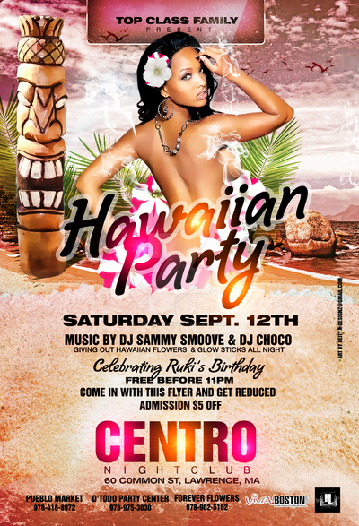 Hawaiian Theme Party Flyer By DeityDesignz On DeviantArt