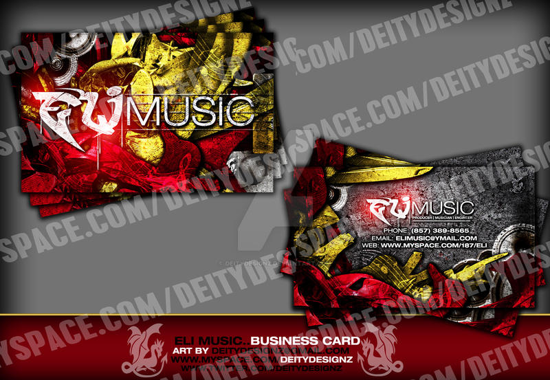 Eli Music Business Card by DeityDesignz