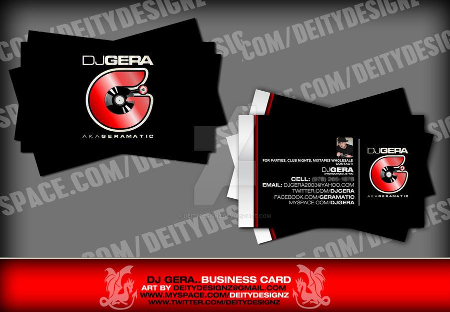 Dj Gera Business Card