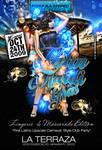 Latin Mardi Gras flyer Party