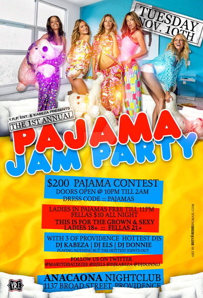 Pajama Jam Party Flyer By DeityDesignz On DeviantArt