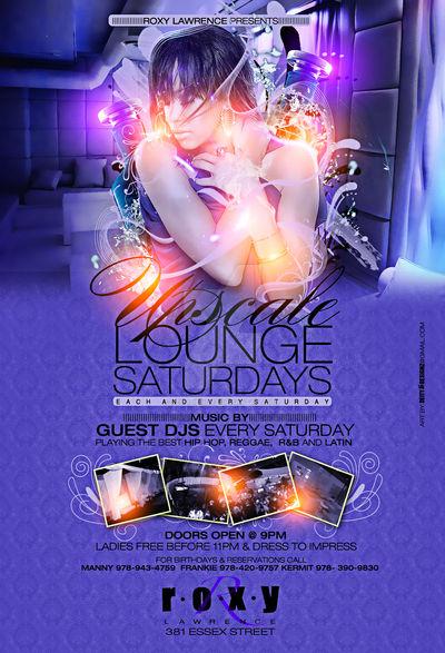 Upscale Lounge Saturdays Flyer