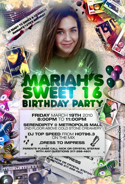 Mariah Sweet 16th Bday Flyer By DeityDesignz On DeviantArt