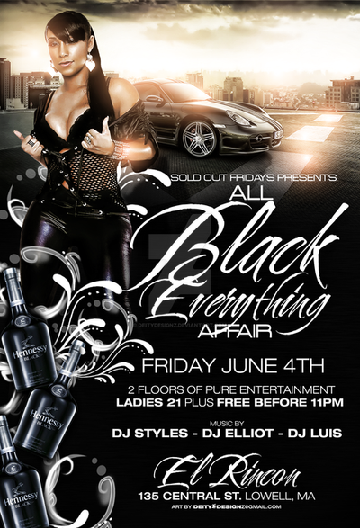 all black affair flyer by deitydesignz on deviantart