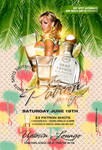 the patron party flyer