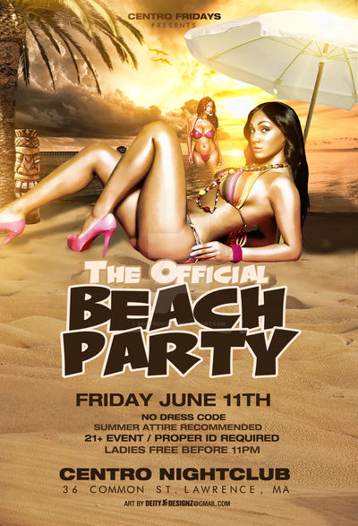 official beach party flyer