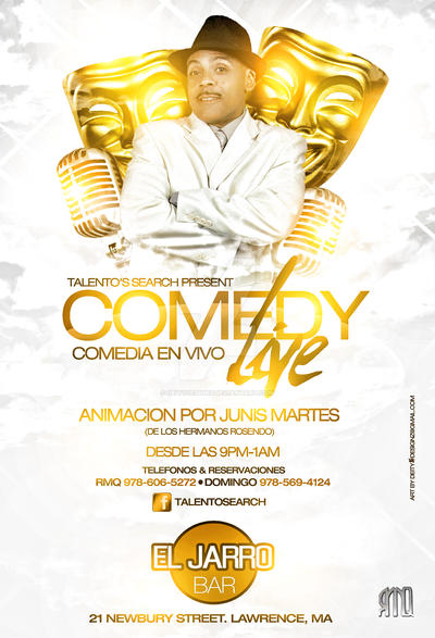 Comedy Live Flyer By Deitydesignz On Deviantart