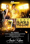 Sexy Black and Yellow flyer