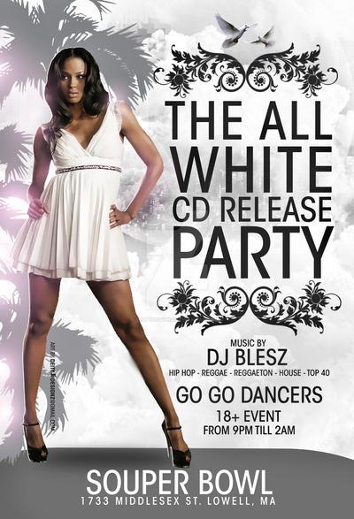 the all white party flyer by deitydesignz on deviantart