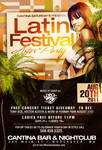 Latin festival party flyer