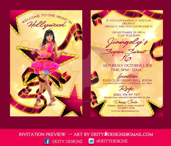 sweet sixteen flyer invitation by deitydesignz