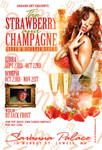 Strawberry and champagne flyer