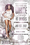 new year white party flyer