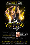 black and yellow party flyer