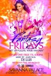 Fantasy Fridays savanna palace flyer