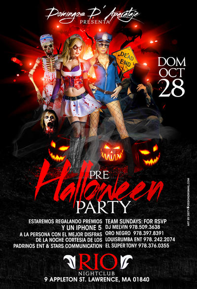 Pre Halloween Party Flyer By Deitydesignz On Deviantart