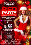 Red Christmas Party flyer