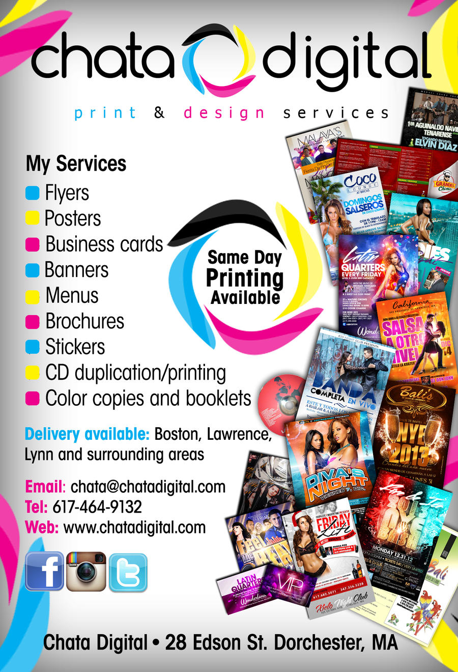 Chata digital printing flyer by deitydesignz on deviantart for Advertise for companies