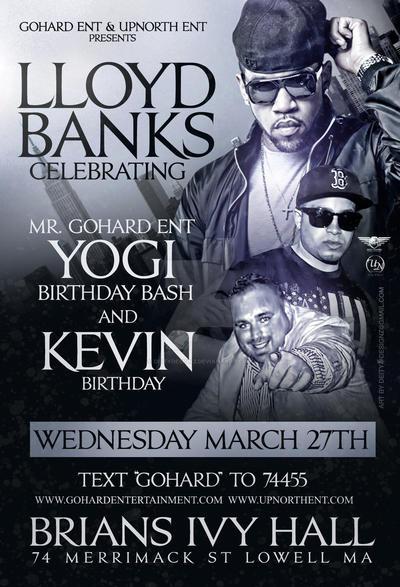 lloyd banks mr gohard ent birthday bash flyer by deitydesignz on
