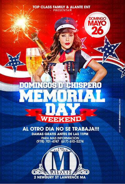 memorial day weekend domingos de chispero flyer by deitydesignz on