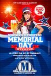 Memorial Day Weekend Domingos De Chispero Flyer