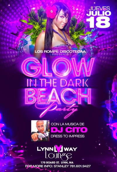 Glow in the dark Beach party flyer by DeityDesignz on DeviantArt