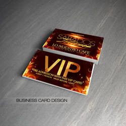 Sabados Intensos VIP cards by DeityDesignz