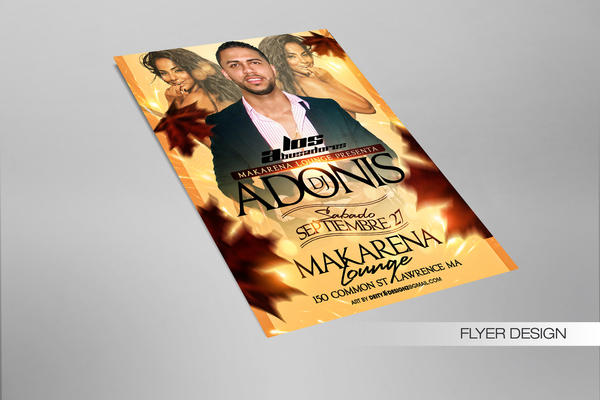 Welcome Fall Dj Adonis Flyer design by DeityDesignz