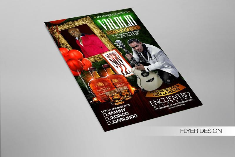 Birthday Flyer design  Virjilio by DeityDesignz