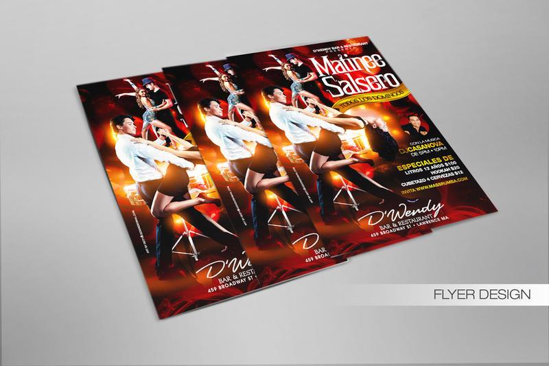 Matinee Salsero Flyer design by DeityDesignz