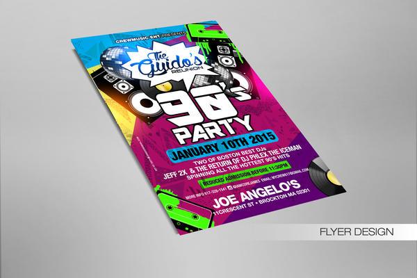 The Guidos 90 party flyer by DeityDesignz