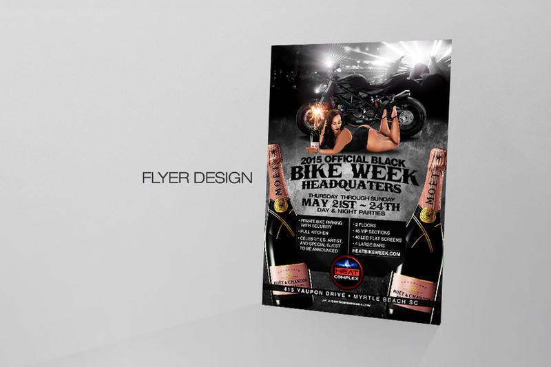 Black Bike Week 2015 Flyer by DeityDesignz
