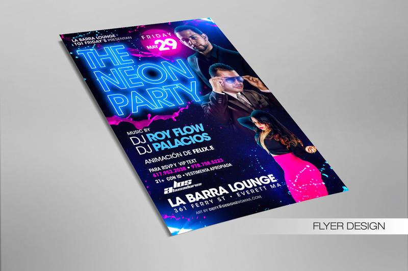Neon Party Flyer by DeityDesignz