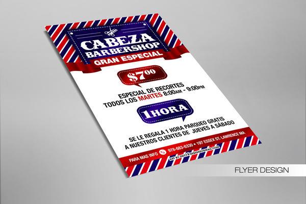 Cabeza Barbershop Postcard by DeityDesignz