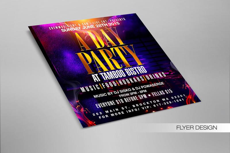 A Day Party Flyer by DeityDesignz
