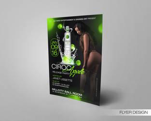 Ciroc Apple Release Party Flyer by DeityDesignz