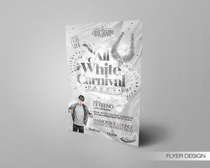 All White Carnival Flyer