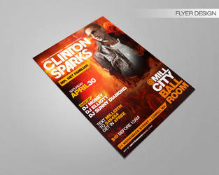 Clinton Sparks City Mill Ballroom Flyer by DeityDesignz