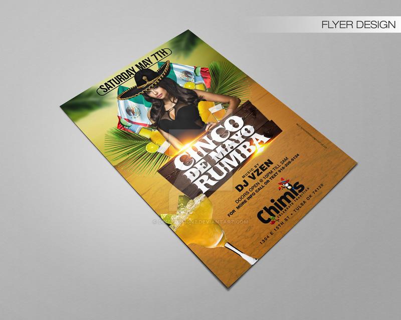 Cinco De Mayo Rumba Flyer by DeityDesignz