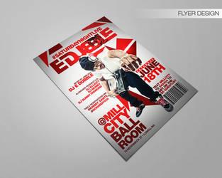 Dj Edubble Flyer by DeityDesignz