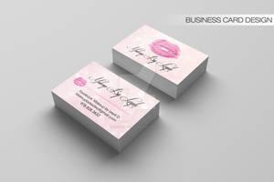 Makeup Business card design