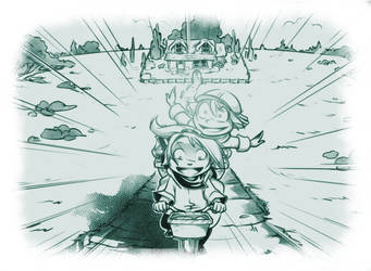 Sky Rover page 21 - Bicycle ride! by Nunumii