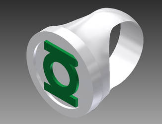 Green Lantern Ring Platinum by tonimich