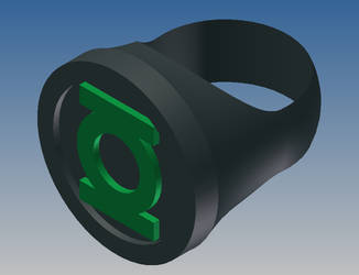 Green Lantern Ring Dark Revamp by tonimich
