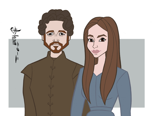 Game of Thrones - Robb Stark and Talisa by howardshum