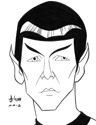 Leonard Nimoy as Spock by howardshum