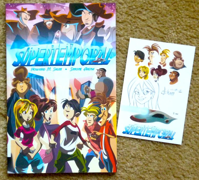 Supertemporal Graphic Novel and Bookplate by howardshum