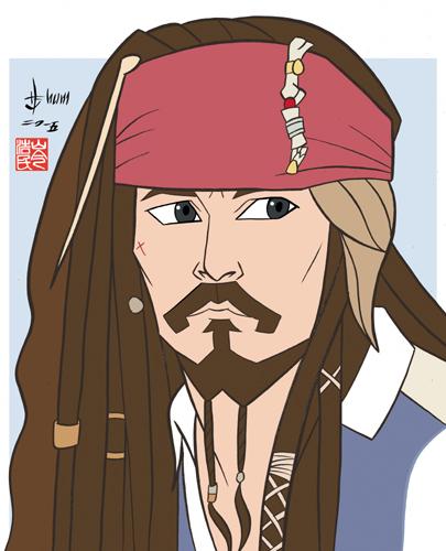 Johnny Depp - Captain Jack Sparrow by howardshum
